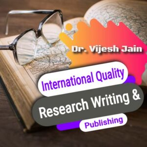 International Quality Research Writing and Publishing Course